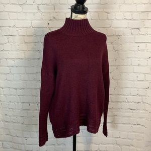 Old Navy oversized knit sweater purple size small